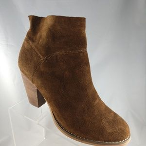 Sole Society 10 Brown Suede Leather Ankle Booties